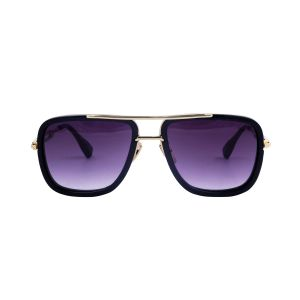 Visach Golden-black Sunglasses For Women