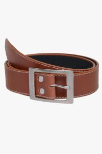 Visach Artificial Leather Tan Formal Belts For Men (code - Vs_tan)