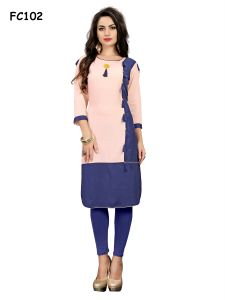 New Reyon Blue Color Designer Kurti (code-fc102-s)