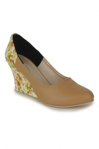 Naisha Wedges For Women (code - Sc-mq-1115-tan)