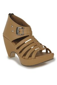 Naisha Wedges Sandal For Women (code - Sc-mq-1114-tan)