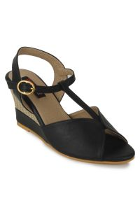 Naisha Wedges Sandal For Women (code - Sc-ma-b-1201-black)