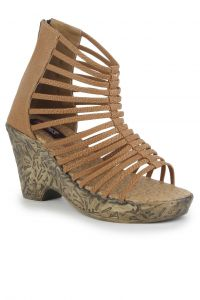 Naisha Wedges Sandal For Women (code - Sc-pt-153-beige)