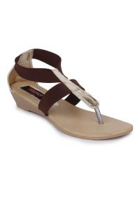 Naisha Wedges Sandal For Women (code - Sc-mk-276-brown)