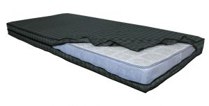 Glassiano Sleewon Dustproof & Waterproof Standard Size Checks Printed Zipper Mattress Cover (code - Gimc_48x72x5_slw02)