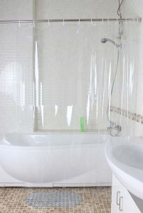 Shower curtains - Glassiano 0.25mm PVC Transparent Curtain - (Code - GI_25PVC_50X96)