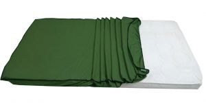 "Glassiano Dust & Water Proof Double Green Mattress Protector (48"" X 72"")"