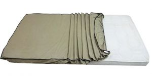 "Mattresses - Glassiano Dust & Water Proof Double Beige Mattress Protector (48"" x 72"")"