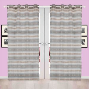 Door Curtain Jacquard Geometric Design Yellow Bh151c2d