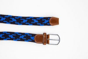 Dapper Homme Black And Blue Color Elastic Fabric Belt For Mens
