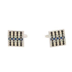 Dapper Homme Self Design Multi Color Cufflinks For Men