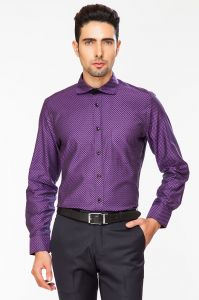 Dapper Homme Purple Color Egyptian Cotton Slim Fit Shirt For Men