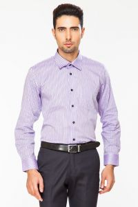 Dapper Homme Purple Color Egyptian Cotton Regular Fit Shirt For Men