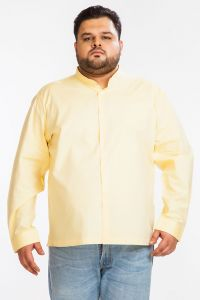 Formal Shirts (Men's) - DAPPER HOMME Yellow color Egyptian Cotton  Plus sized shirt for men