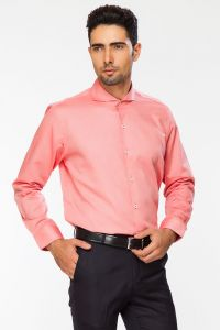 Dapper Homme Pink Color Egyptian Cotton Slim Fit Shirt For Men