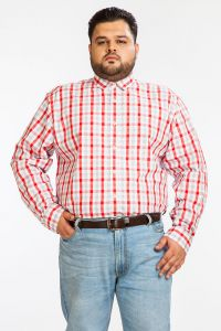 Dapper Homme Red Color Egyptian Cotton Plus Sized Shirt For Men