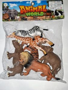 Action Figures - Set of 6 Animal World (Code AN0011)