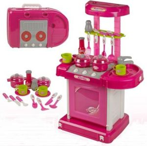 Luxurious Kitchen Play Set With Accessories, Light And Music Toy For Kids - (code Drs025)