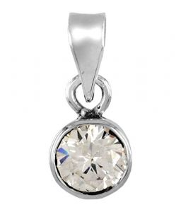 Astrology - Malabar Gems Lab Certified 7.24 Ratti/6.51 Carat Zircon Pendant (Locket) in 925 Silver