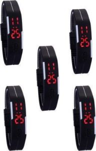 Analog digital watches (Misc) - Tuzech Sports Waterproof LED Watch - Set Of 5 ( For Men And Women)