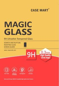 Case Mart Transparent Lenovo A6000 Tempered Glass