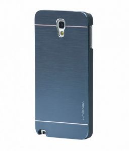 Tup Motomo Metal Back Case Cover For Samsung Galaxy Note3 Neo N7505 Blue