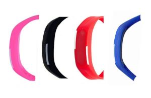 Digital Multi-colour Dial Women Watch (p_bl_r_blu_led_01)