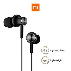 Basic Wired Earphone With Mic Compatible For ( Black )