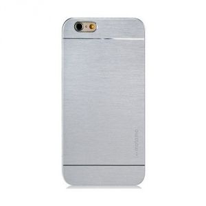 Motomo Brushed Metal Hard Back Case Cover For Apple iPhone 5s -silver