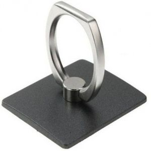Vu4 Finger Grip Ring Stand Black Mobile Holder