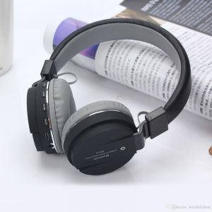 HD Sh12 Bluetooth Headset Support Tf Card With FM Volume Control And Microphone