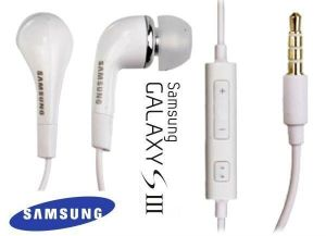Panasonic,Vox,Fly,Canon,Xiaomi,Samsung Mobile Phones, Tablets - Original Samsung Handsfree Earphone With 3.5mm Jack Whiteline