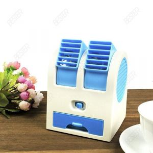 Computer Fans - Free Shipping Fragrance Small Fan Battery Dual Mini USB Small Fan Handheld Air Conditioning Fan Air Conditioner(sz537)