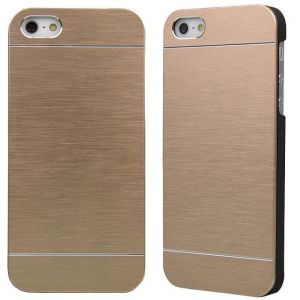 Motomo Brushed Metal Hard Back Case Cover For Apple iPhone 6 Plus -golden