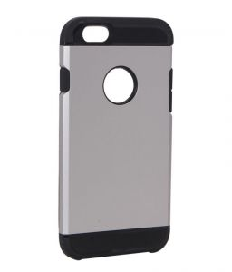 Spigen Silver Silicone Back Cover For Apple iPhone 6