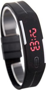 DSC Black Digital Rectangle Sports Watch For Men