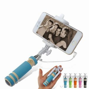Portable Mini Folding Mobile Phone Wired Self Selfie Sticks For Universel Mobile