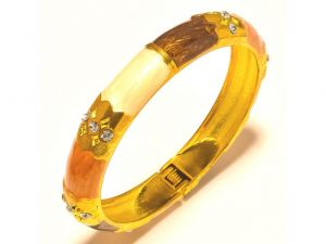 Sanaa Creations Beautiful Kada Gold Plated With Center Cz For For All Occasions-(product Code-1kd07)