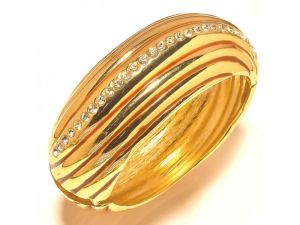 Sanaa Creations Gold Plated Fancy Bangles,kada With Center Cz For For All Occasions-(product Code-1kd09)