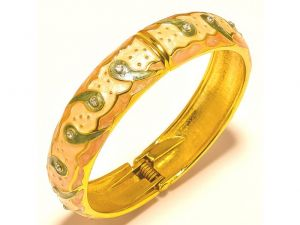 Sanaa Creations Traditional Crafted Bangles,kada With Green Enamel For All Occasions --(product Code-1kd10)