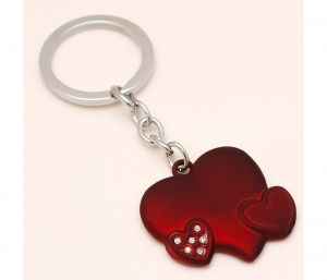 Sanaa Creations Combo Of Beautiful Red Heart With Cz Either Use As Keychain/pendant-(product Code-1kp14)