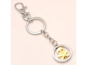 Sanaa Creations Combo Of Gold Symbol Of Danger Shape Pendant Either Use As Keychain/pendant -(product Code-1kp42)
