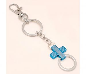 Sanaa Creations Multi Use Of Blue Cross Shape Keychain/pendant For Fashion Lover-(product Code-1kp43)