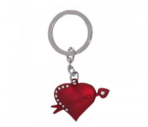 Sanaa Creations Multi Use Of Red Color Heart Shape Cz Keychain/pendant For Fashion Lover-(product Code-1kp56)