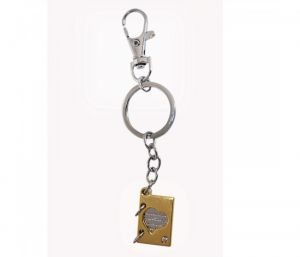 Sanaa Creations Combo Of Gold-silver Color Love Book Keychain/pendent-(product Code-1kp62)
