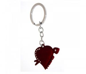Sanaa Creations Multi Use Of Heart With Cz Arrow Keychain/pendant For Fashion Lover-(product Code-1kp63)