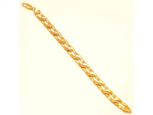 Sanaa Creations Stylish Gold Plated Chain Style Bracelet Exclusively Designed For Mens-(product Code-1mb45)