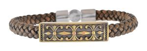 Sanaa Creations Diwali Offer Fashion Brown Leather Band Strand Bracelet For Boys / Men