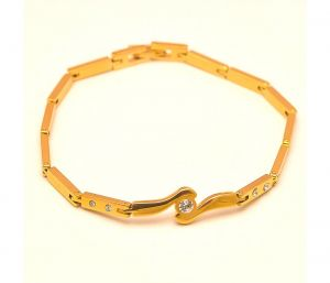 Sanaa Creations The Jewelbox Free Size Gold Plated Cz Bracelet For Men-(product Code-1mb78)