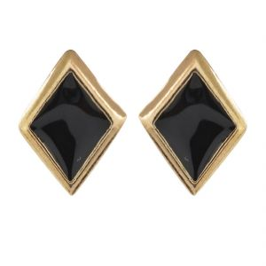 Sanaa Creations Stainless Steel Stud Earring For Men Black